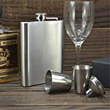 TraveT Outdoor Portable Stainless Steel Flagon Liquor Hip Flask Set