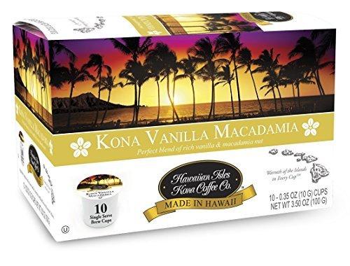 Kona Vanilla Macadamia - 20 Single Serve Cups (2 packs of 10)