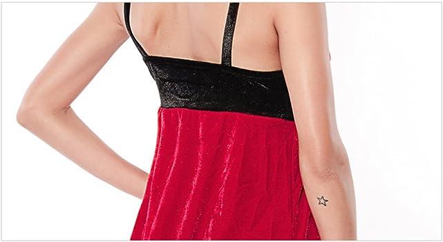 Amazon.com: LOCO Sexy Mujeres/Miss Santa vestido Disfraces ...