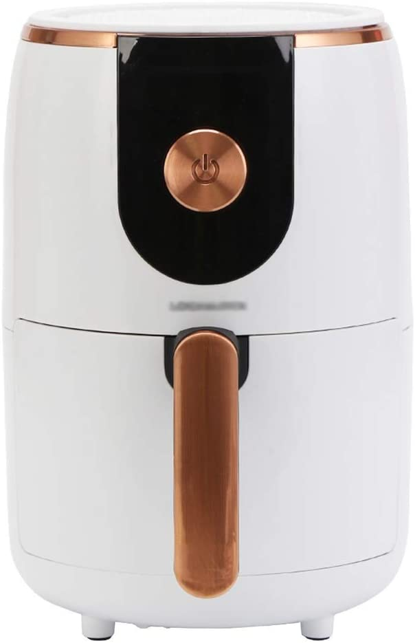 ZLJ 2L Digital Display Air Fryer, Healthy Oil Free Deep Fryer Family Capacity Oven/Cooker for Low Fat Cooking Timer and Fully Adjustable Temperature Control, 1000W (Color: White)