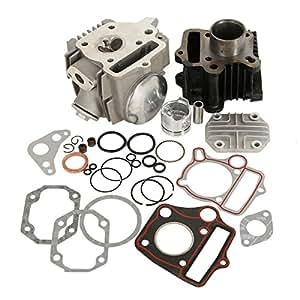 amazoncom xmt moto mm bore cylinder head piston engine rebuild kit  honda zr xr crf
