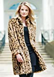 Leopard Faux Fur Signature Knee Length Coat (Medium)