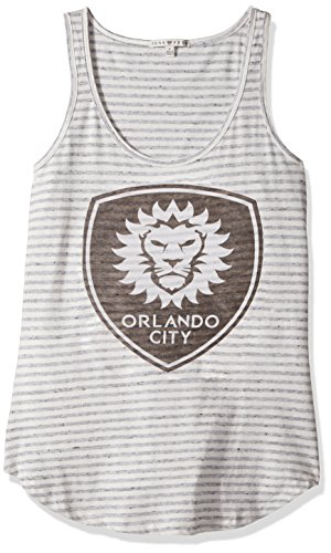 fan products of MLS Orlando City Women's Tank Top, Small, Sun/Grey