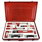 Tooluxe 20727L Pneumatic Auto Body & Frame Collision Repair Kit, 7 Piece | 2-10 Ton Rams