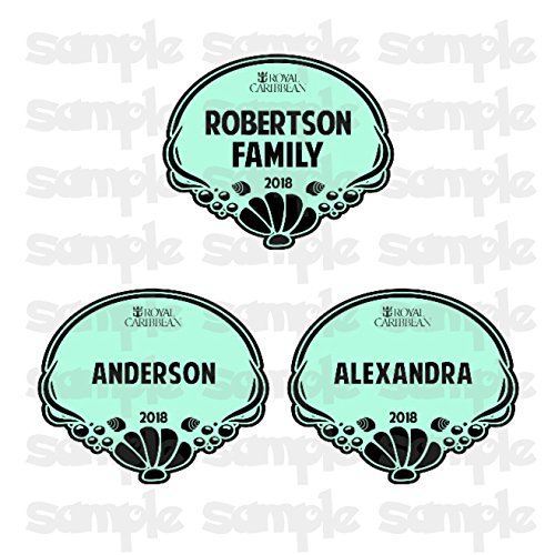 Royal Caribbean Cruise Door Magnet   Personalized Royal Caribbean Name Shell Tag Magnets   Family Name Tag Magnet