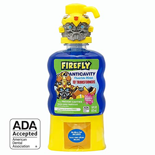 Firefly Anti-Cavity Mouth Rinse (16 Ounce, Pack of 4) (Transformers)