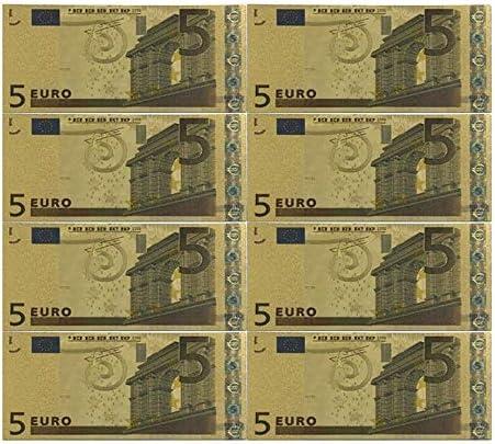 ZYZRYP コレクションやギフトEUマネー絶妙なクラフト用カラーユーロ紙幣10個入り/ロット20 EUR金箔紙幣 使いやすい (色 : Dark Gray)