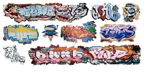 Scale Water Slide Decals - N Scale Custom Graffiti Decals #33 - Great for Weathering Box Cars, Hoppers, Gondolas and More!