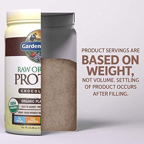 Garden of Life Raw Organic Protein Chocolate Powder, 20 Servings *Packaging May Vary* Certified Vegan, Gluten Free, Organic, Non-GMO, Plant Based Sugar Free Protein Shake with Probiotics & Enzymes 6