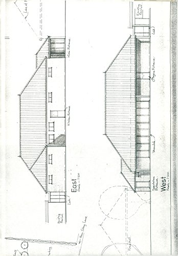 (Vintage photo of Proposed plan of district community center in Reepham.)