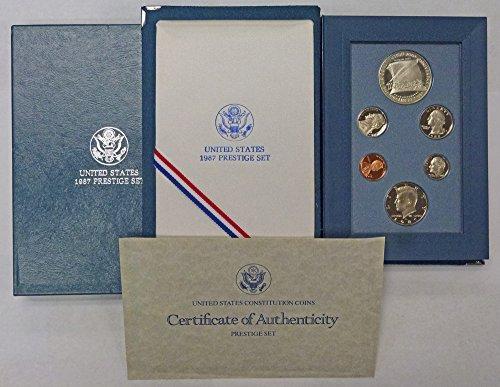 1987 S Prestige Proof Set 1987 US Constitution Silver Dollar OGP