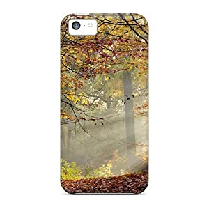 High-quality Durability Case For Iphone 5c(autumn Free Autumn In The Forest 32)