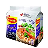 Maggi Royale Thai White Seafood Tom Yam/Hot & Sour Broth With Real Herbs & Spices/Delightful Citrus Taste Of Kafir Lime Topped With Spring Onions, Chilies & Meat-Like Garnish/8 packets x 88g