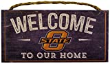 NCAA Oklahoma State Cowboys 12'' x 6'' Distressed Welcome to Our Home Wood Sign