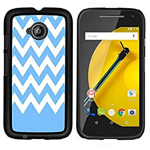 Dragon Case - FOR Motorola Moto G 2nd Generation - Blue and white stripes - Caja protectora de pl??stico duro de la cubierta Dise?¡Ào Slim Fit