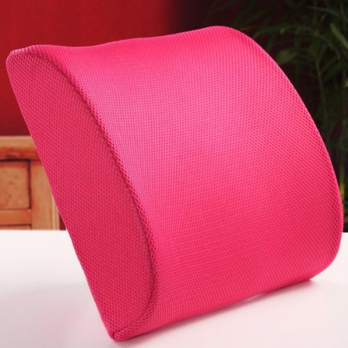 THG High Resilient Memory Foam Rose Seat Back Pain Support Cushion Pillow Pad Car Office Chair Lumbar Lower ache