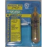 840AMU-Manual, 24 gram CO2, 1/2, Inflatable PFD Rearming Kit by Leland