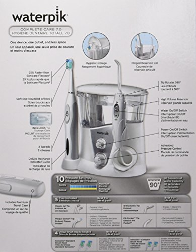 Waterpik WP-950 Complete Care 7.0 Water Flosser and Sonic Tooth Brush by Waterpik (Image #20)