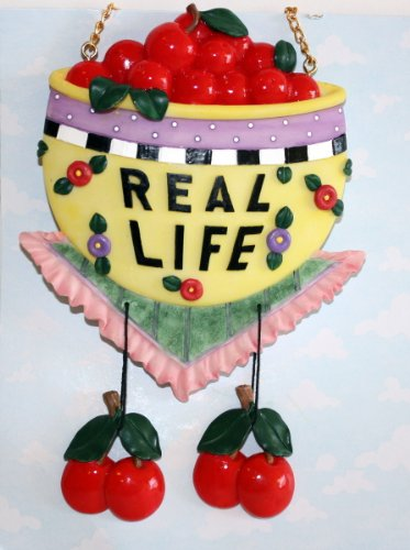 Message Plaque - Mary Engelbreit 1998 Real Life Hanging Message Plaque 973858