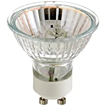 Satco Products S3517 50-Watt MR16 Halogen GU10 Base 120-Volt Clear FL 36 Beam Pattern No Harmful Ultraviolet Rays Light Bulb, with Lens