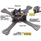 XSD MOEDL DIY FPV mini Racing Drone GEP-TX 180 / 210 / 230 quadcopter 3k carbon fiber frame 4mm main lower plate better than QAV-X QAVR (6-inch wheelbase 230mm) (Gift:5045 propellers 3blades 2 pairs)