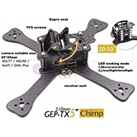 XSD MOEDL DIY FPV mini Racing Drone GEP-TX 180 / 210 / 230 quadcopter 3k carbon fiber frame 4mm main lower plate better than QAV-X QAVR (6-inch wheelbase 230mm) (Gift:5045 propellers 3blades 2 pairs)