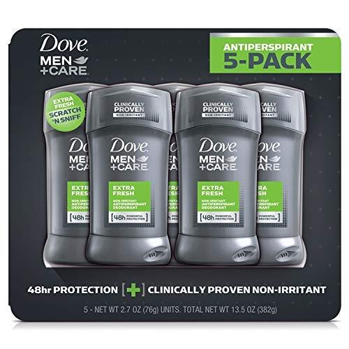 Dove Men + Care Extra Fresh Non-irritant Antiperspiration 5 Pack (Dove Men Care Clean Comfort Antiperspirant Deodorant)
