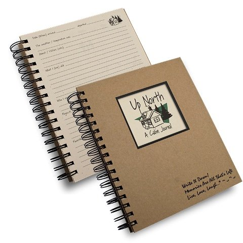A Cabin Journal Up North Kraft Hard Cover prompts on Every Page, Recycled Paper, Read More.