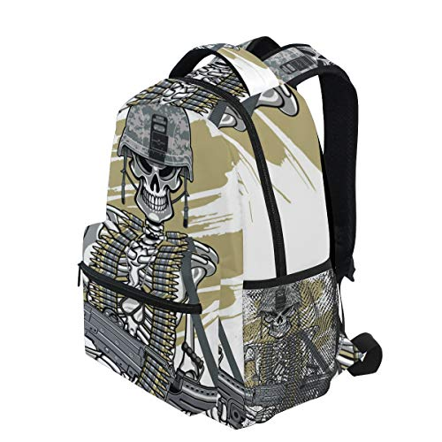 """KVMV Skull Army Helmet M249 Machine Gun 16"""" Theme Laptop for sale  Delivered anywhere in Canada"""