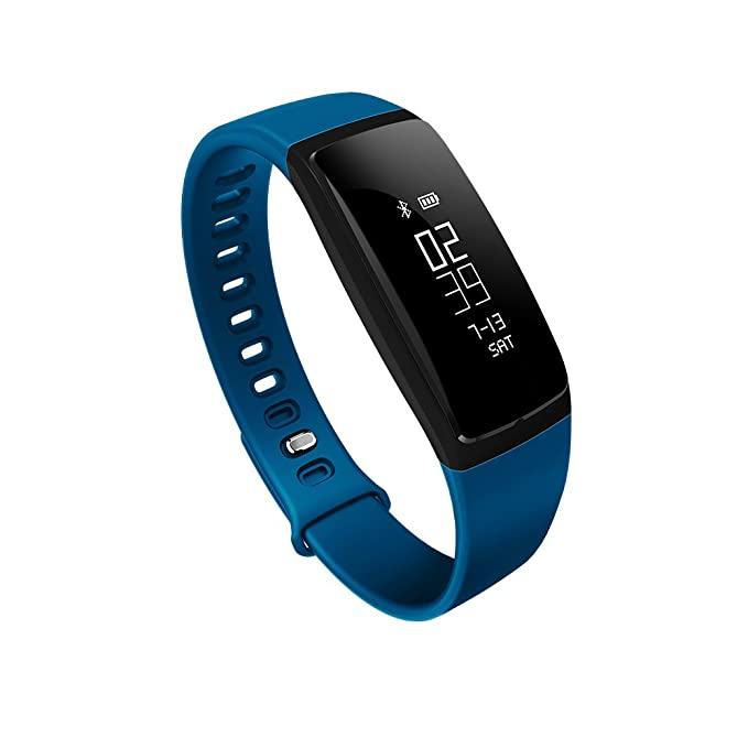 V07 Smart Watch Sports Healthy Blood Pressure Monitor Bluetooth Smart  Bracelet Watch Blue Band