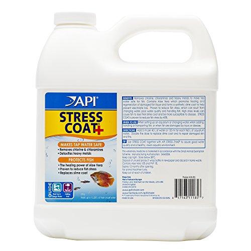 API STRESS COAT Aquarium Water Conditioner 64-Ounce Bottle from API