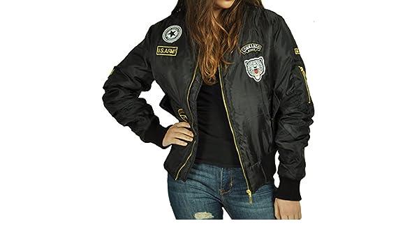cbkttrade Mujer Bomber Chaqueta Pilot Chaqueta Planeador Old ...