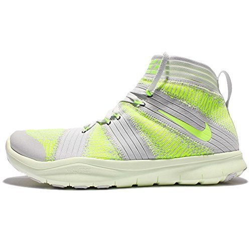 Nike Free Train Virtue Mens Cross Training Shoes, Platinum/Green-Volt, Size 11 US