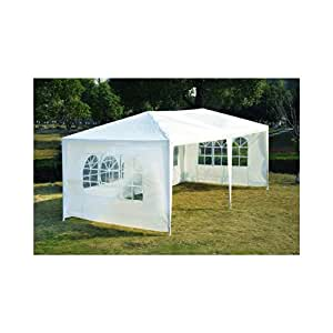 10' x 20' Gazebo Party Tent Camping Wedding Canopy with 4 Removable Walls White