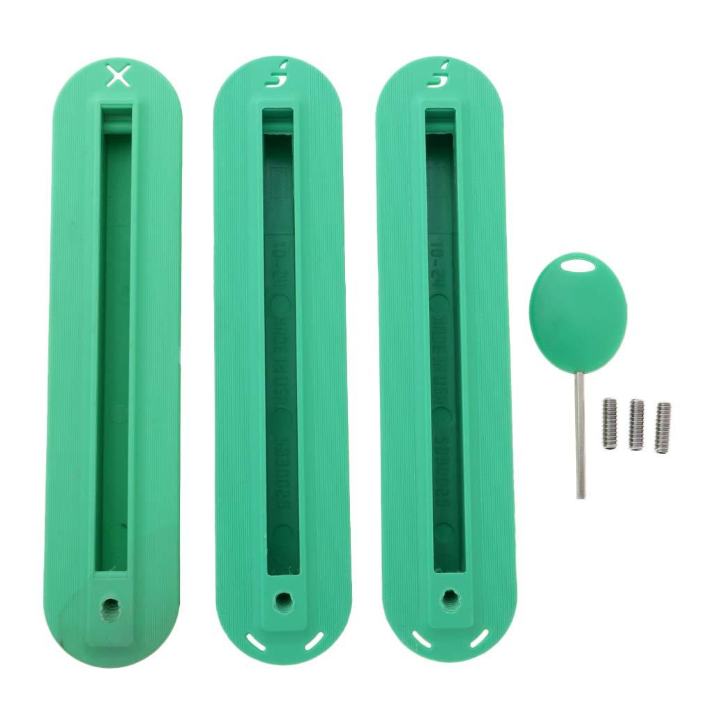 Tal como se Describe perfk 3 Unidades Cubierta de Aleta de Tablas de Surf con Tornillos y Llave Azul