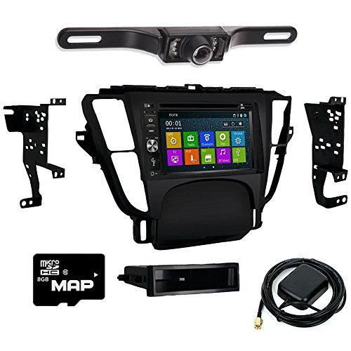 DVD GPS Navigation Bluetooth Radio and Dash Kit for Acura TL 2009-2014 with Back Up ()