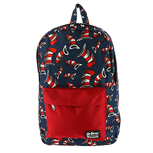 Dr. Seuss Cat in the Hat All Over Hat Print Backpa Standard ()