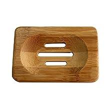 Soap Box ,Auko Bath Accessories Natural Bamboo Soap Dish Soap Case ,Coffee