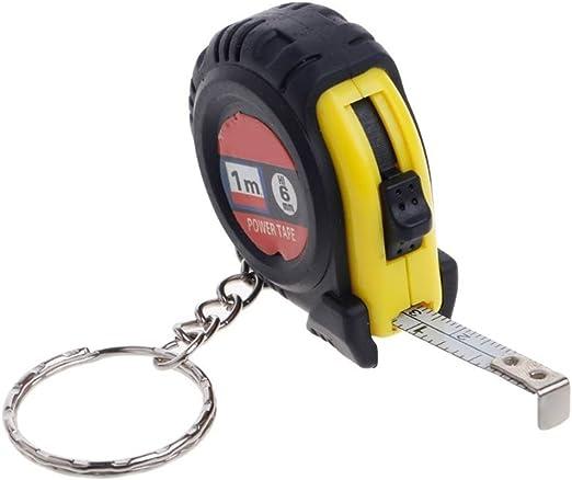 2 x 1 Metre Key Ring Tape Measures Measuring Metric Imperial Measurements