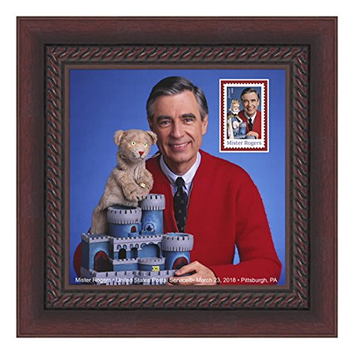 Mister Mr. Rogers FRAMED Collectible USPS Postage Stamp, 8 x 8-inch (Stamp Framed)