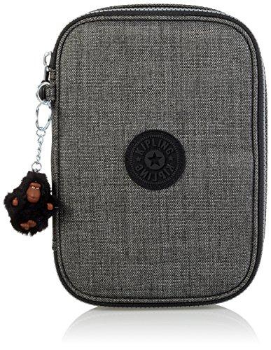 Kipling - 100 PENS - Large Pen Case - Jeans Grey - (Grey)