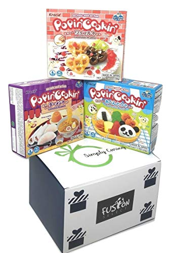 - Popin' Cookin' DIY Candy Kit (3 Pack Variety) - Tanoshii Bento, Ramen and Waffle in Fusion Select Gift Box