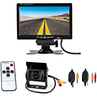 CISNO 7 TFT LCD Car Rear View Monitor+Wireless Backup Reverse Night Vision Camera Kit