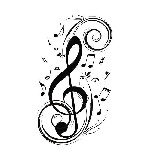 Meaosy Nota Musical Etiqueta De La Pared Música Decoración Para El ...