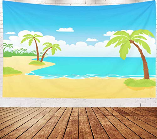 - Musesh Beach Hanging Wall Tapestry,Art Tapestry, Tapestries Wall Hanging for Bedroom Living Room Decor Inhouse 80x60 Inches Size Sea Beach Rest On The Beach Beach and Tropical Sea Vector Illustration