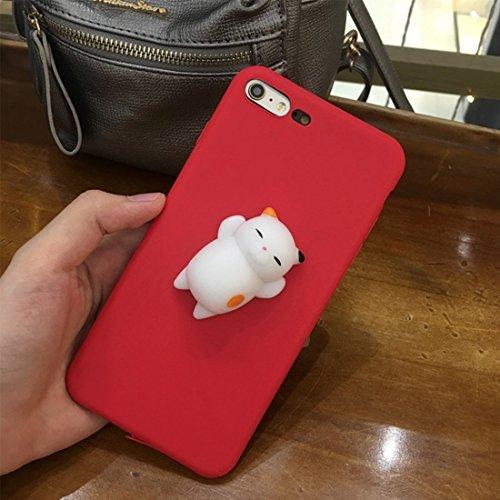 Mobiltelefonhülle - Für iPhone 6 Plus & 6s Plus 3D Lovely Katze Cartoon Pattern Squeeze Relief Squishy Schutzmaßnahmen zurück Fall Fall ( Großauswahl : Ip6p8792r )