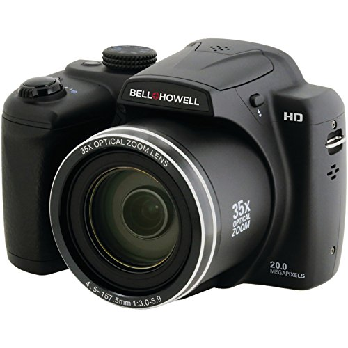 Best BELL+HOWELL B35HDZ 20.0MP Superzoom Bridge Digital Camera with HD Video  35X Wide-Angle Optical Zoom