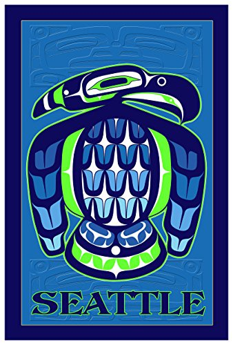 Seattle Seahawk Travel Art Print Poster by Dion Joseph (12