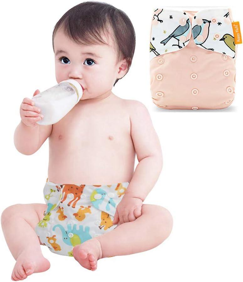 Amarillo + Azul + Ping/üino + Ola Wenosda 4PCS Pa/ñales de tela para beb/és Pa/ñales de bolsillo Pa/ñales reutilizables lavables Inserte el pa/ñal de bolsillo todo en uno para la mayor/ía ni/ños