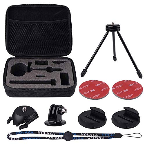 HOLACA Carrying Case Compatible for Rylo 360 Video Rylo A0101 360 Video Camera Including Tripod Curved Flat Mount Wrist Strap Tripod Adapter Stroage EVA Bag